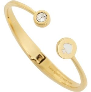NWT Kate Spade Spot the Spade Hinged Cuff in White